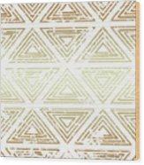 Gold Tribal Wood Print