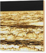 Gold Waves Wood Print