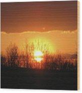 Golden Arch Sunset Wood Print