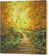 Golden Arches L Wood Print