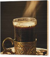 Golden Aroma Wood Print