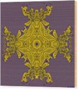 Golden Artifact Wood Print