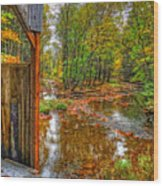 Golden Autumn Days Wood Print