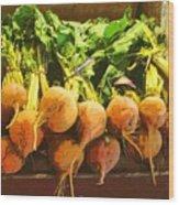 Golden Beets Wood Print