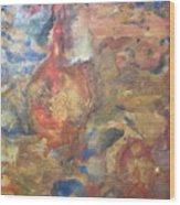 Golden Birth Wood Print by Dawn Wilie