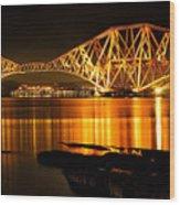 Golden Bridge Wood Print