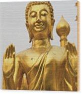 Golden Buddha Wood Print