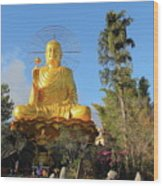 Golden Buddha In Vietnam Dalat Wood Print