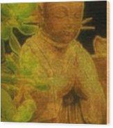 Golden Buddha Wood Print by Jen White