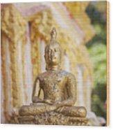 Golden Buddha Ornament Wood Print