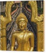 Golden Buddhas Wood Print