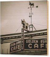 Golden Burro Cafe 2 Wood Print
