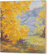 Golden California Sycamores Wood Print