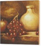 Golden Carafe Wood Print