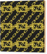 Golden Chains With Black Background Seamless Texture Wood Print