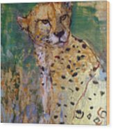 Golden Cheetah Wood Print