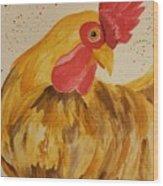 Golden Chicken Wood Print