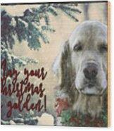 Golden Christmas Wood Print