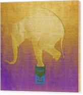 Golden Circus Wood Print