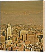 Golden City Hall La Wood Print