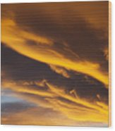 Golden Clouds Wood Print by Garry Gay