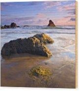 Golden Coast Wood Print