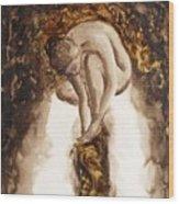 Golden Column Wood Print