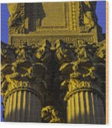 Golden Columns Palace Of Fine Arts Wood Print
