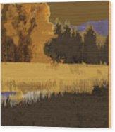 Golden Cottonwood Wood Print