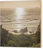 Golden Cove Wood Print
