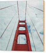 Golden Crossing - Golden Gate Bridge San Francisco Wood Print