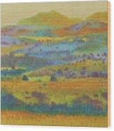 Golden Dakota Day Dream Wood Print