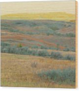 Golden Dakota Horizon Dream Wood Print