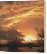 Golden Dawn At Pohoiki  Wood Print