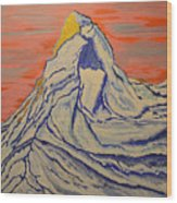 Golden Dawn On Matterhorn Wood Print