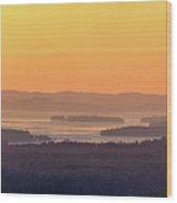 Golden Dawn Over Squam And Winnipesaukee Wood Print