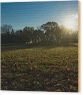 Golden Dew Autumn Sunrise Wood Print