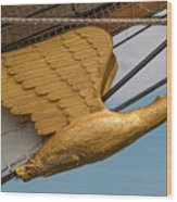 Golden Eagle Masthead Wood Print