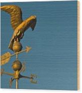 Golden Eagle Weather Vane Wood Print