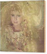 Golden Fairy Wood Print
