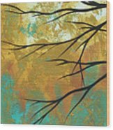 Golden Fascination 1 Wood Print