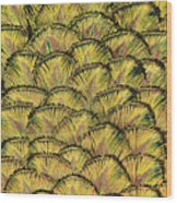 Golden Feathers Wood Print