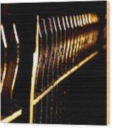 Golden Fence Wood Print