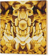 Golden Flower King Wood Print