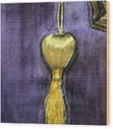 Golden Fringe Wood Print