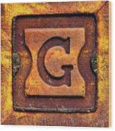 Golden G Wood Print