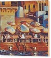 Golden Ganges Wood Print