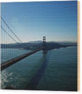 Golden Gate Blues Wood Print