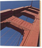Golden Gate Bridge At An Angle Wood Print