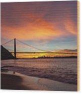 Golden Gate Bridge At Dawn Wood Print
